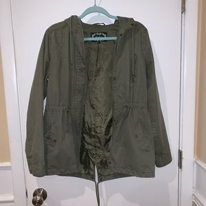 Jackets & Blazers - Olive Green Utility Parka